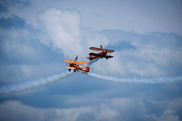 Wing walking at Swanage Carnival
