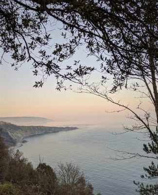 Durlston on the Jurassic Coast at Sunset
